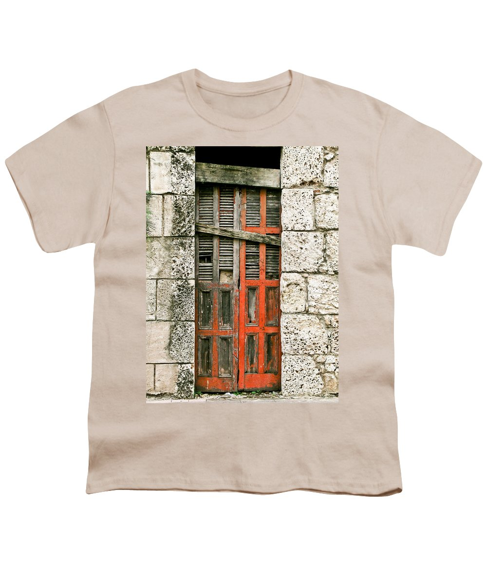 Door Youth T-Shirt featuring the photograph Red Door by Douglas Barnett