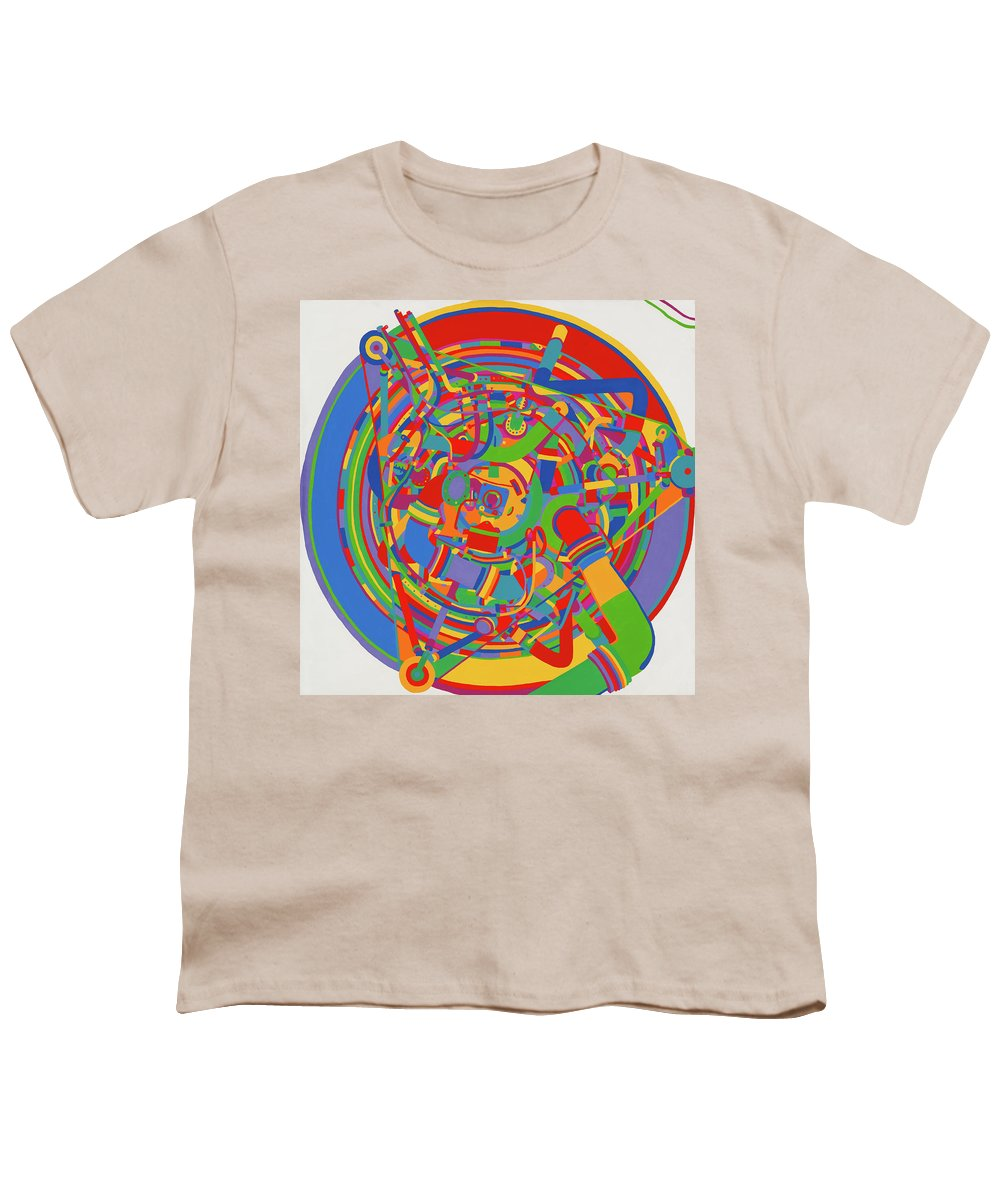 Rocket Youth T-Shirt featuring the painting Rocket by Janet Hansen
