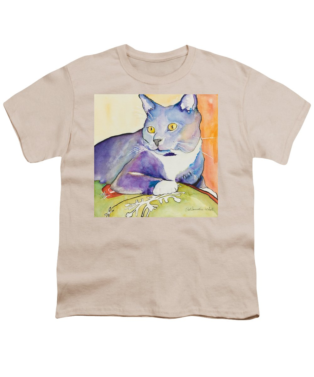 Pat Saunders-white Youth T-Shirt featuring the painting Rocky by Pat Saunders-White