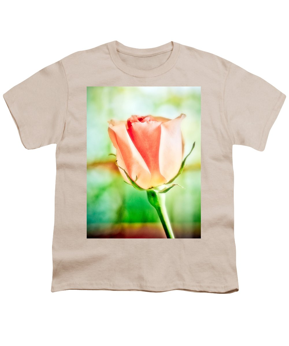 Rose Youth T-Shirt featuring the photograph Rose In Window by Marilyn Hunt