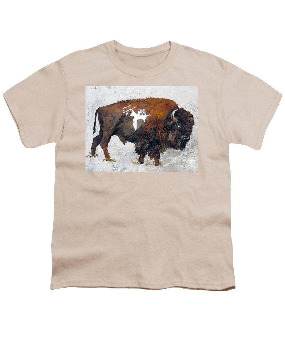 Southwest Art Youth T-Shirt featuring the painting Sacred Gift by J W Baker
