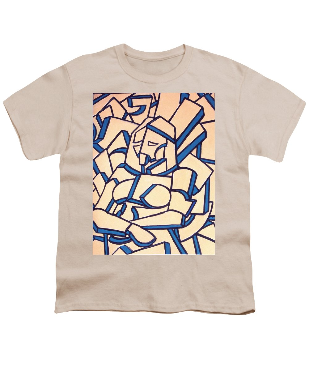 Girl Youth T-Shirt featuring the painting Seated Women by Thomas Valentine