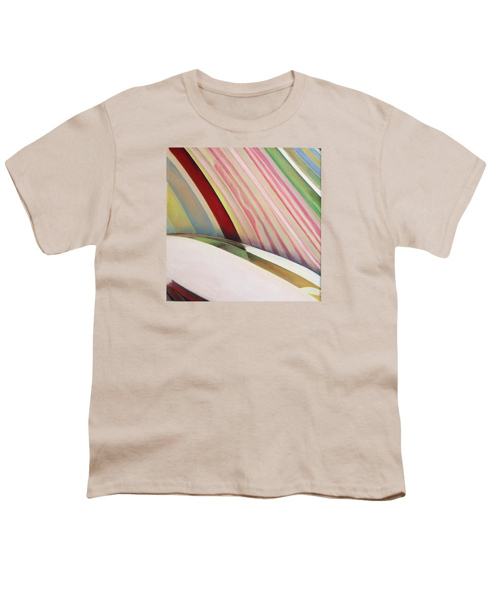Abstract Youth T-Shirt featuring the painting Sens 1 by Muriel Dolemieux
