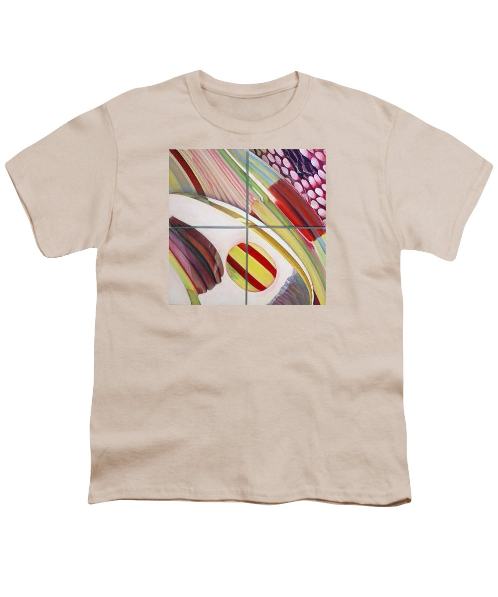Abstract Youth T-Shirt featuring the painting Sens by Muriel Dolemieux