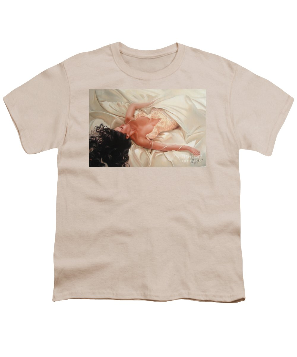 Art Youth T-Shirt featuring the painting Silk And Thrill by Sergey Ignatenko