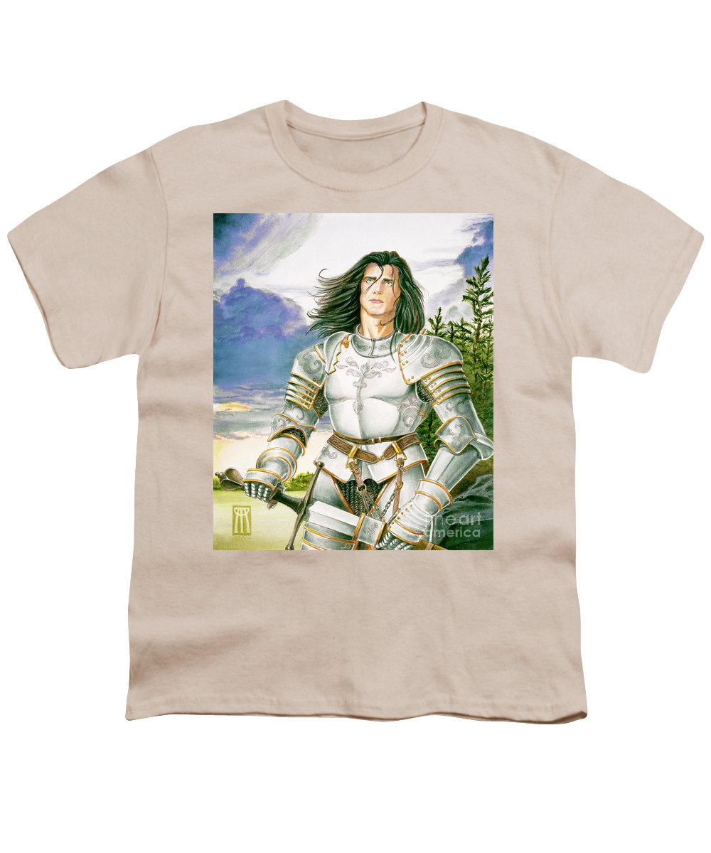 Swords Youth T-Shirt featuring the painting Sir Lancelot by Melissa A Benson