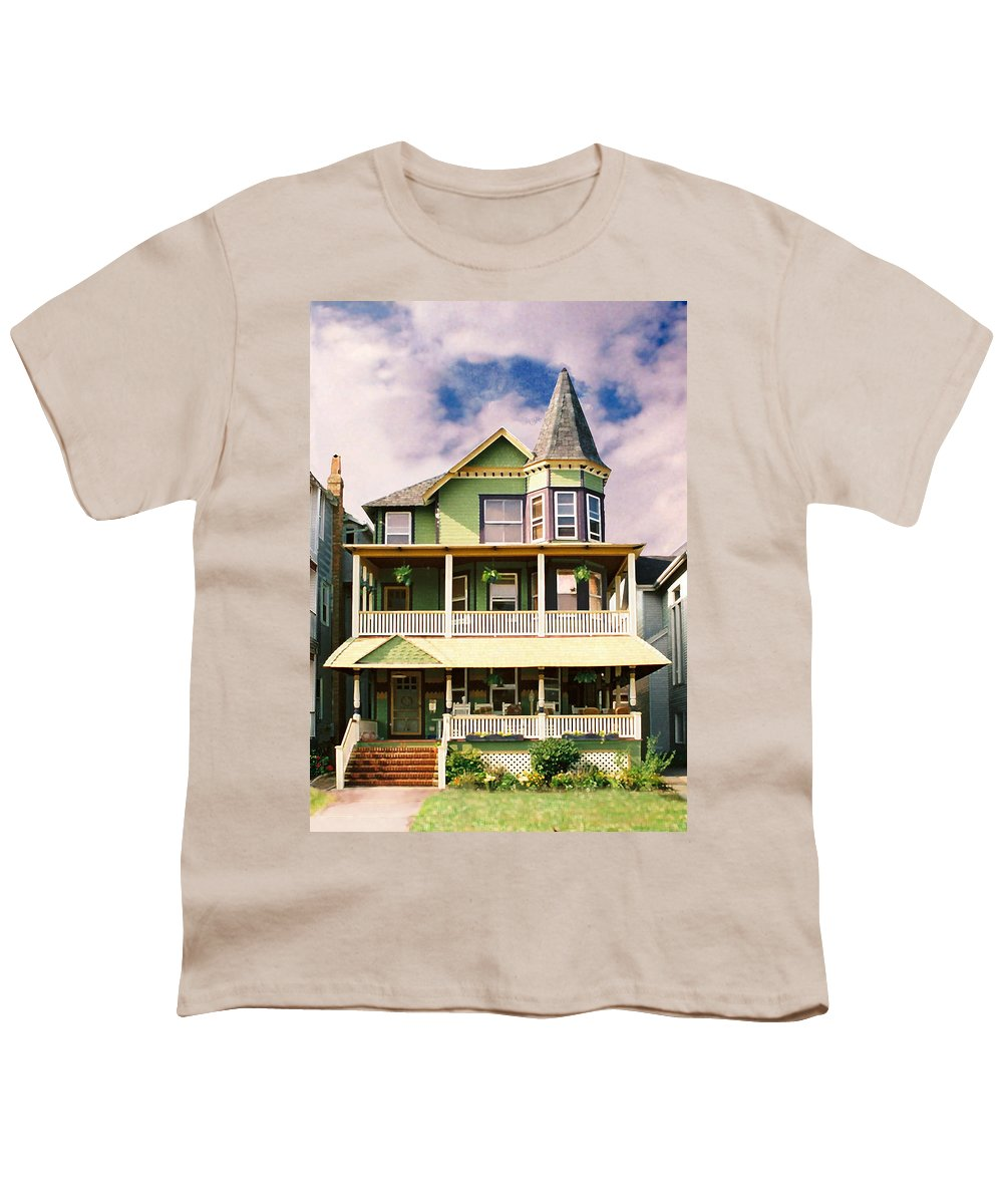Archtiecture Youth T-Shirt featuring the photograph Sisters Panel 1 Of Triptych by Steve Karol