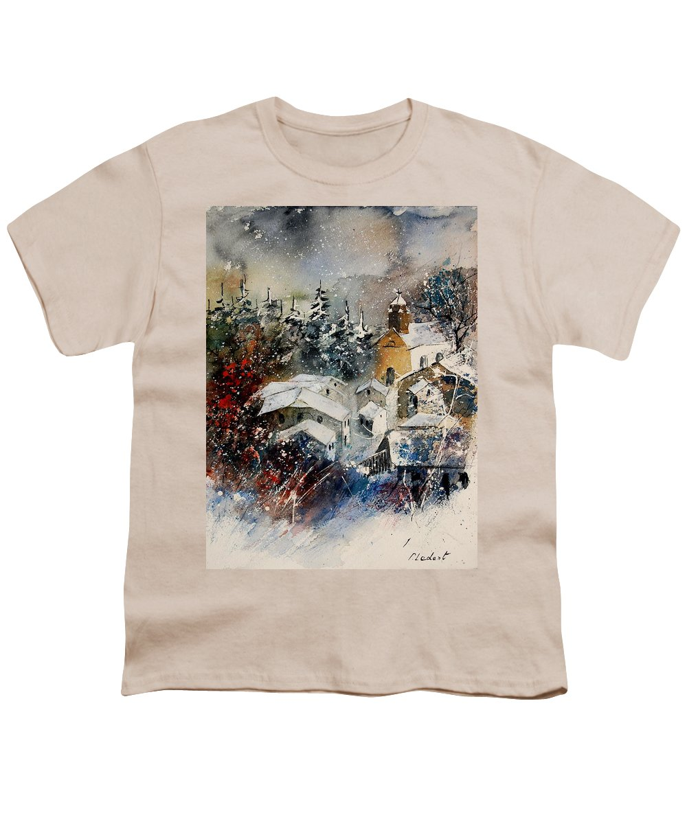 Landscape Youth T-Shirt featuring the painting Snon In Frahan by Pol Ledent