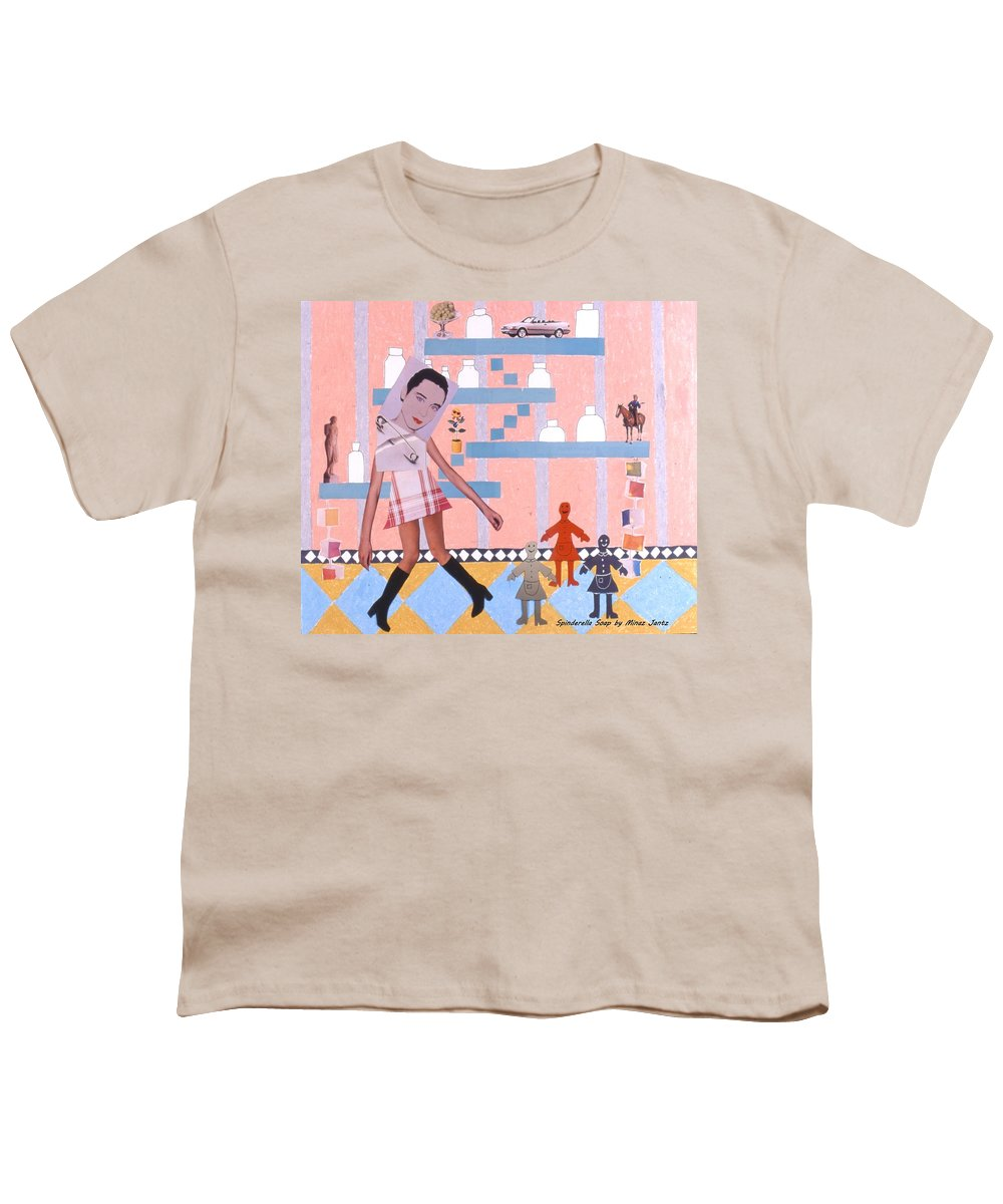 Cowboy Youth T-Shirt featuring the drawing Soap Scene #16 Miracle Maids by Minaz Jantz