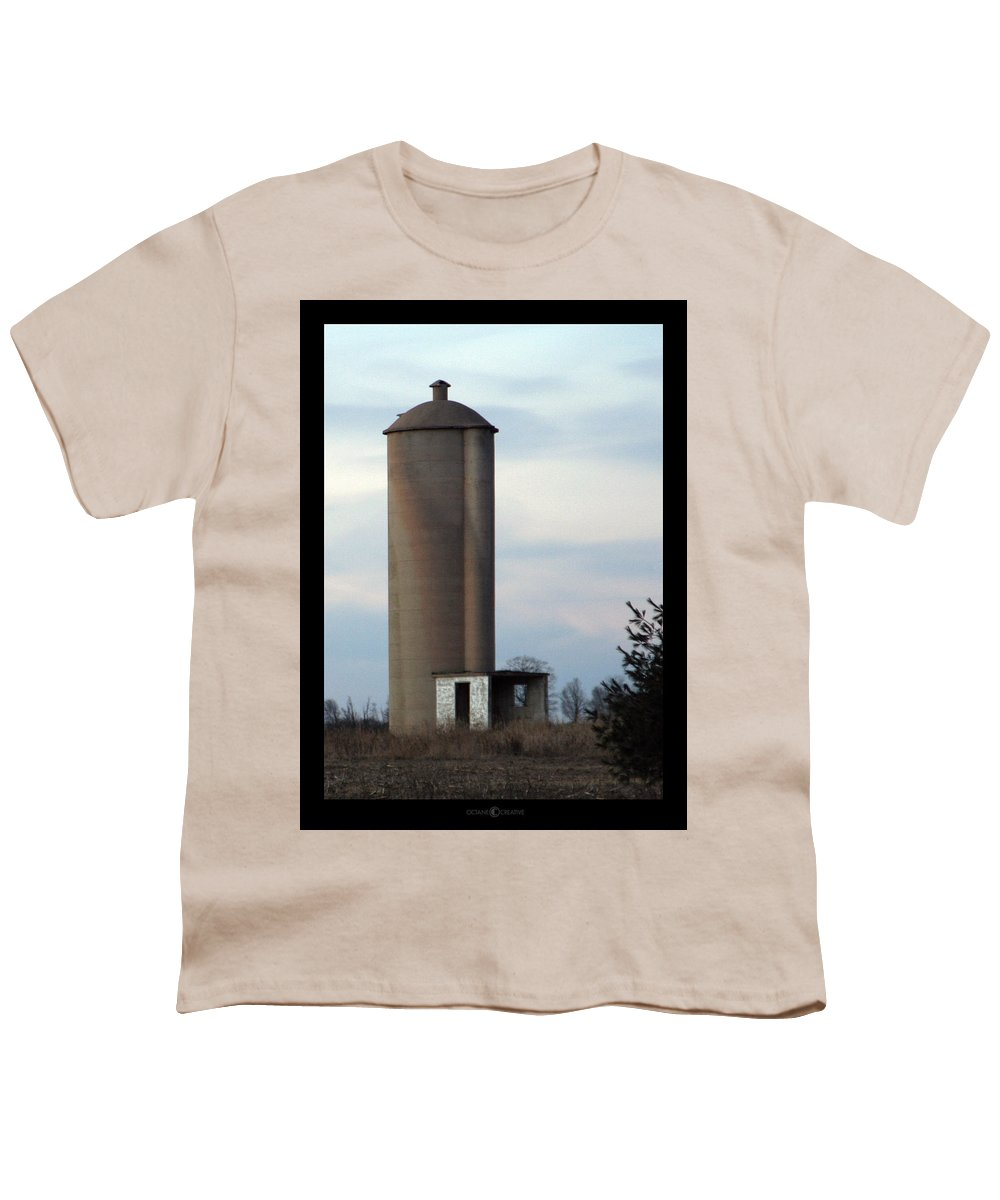 Silo Youth T-Shirt featuring the photograph Solo Silo by Tim Nyberg