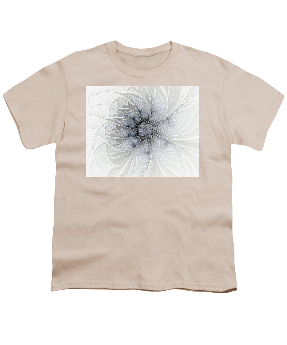 Digital Art Youth T-Shirt featuring the digital art Something Blue by Amanda Moore