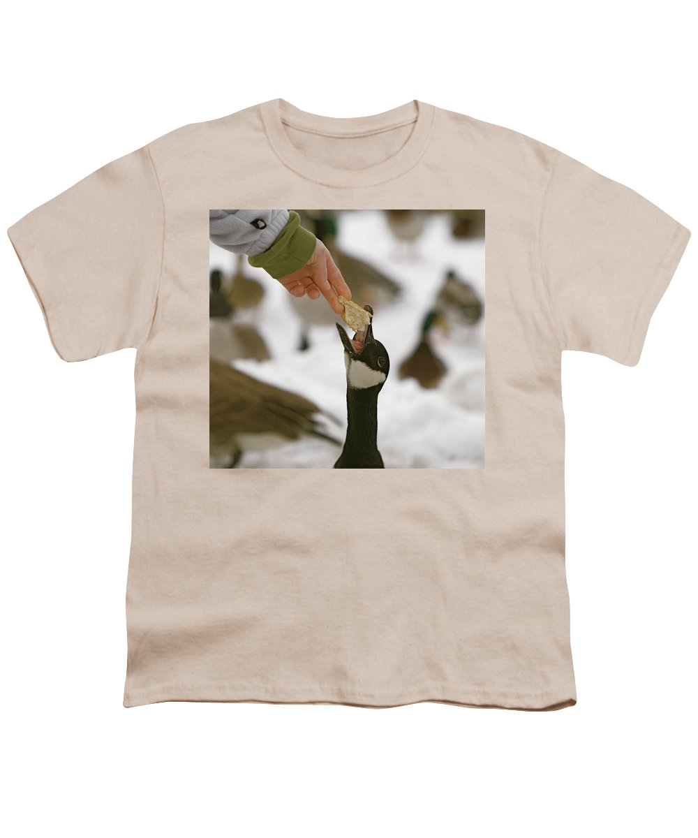 Birds Youth T-Shirt featuring the photograph Sticking My Neck Out by Robert Pearson
