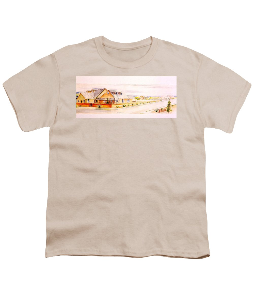 Architectural Renderings Youth T-Shirt featuring the painting Subdivison Rendering by Eric Schiabor