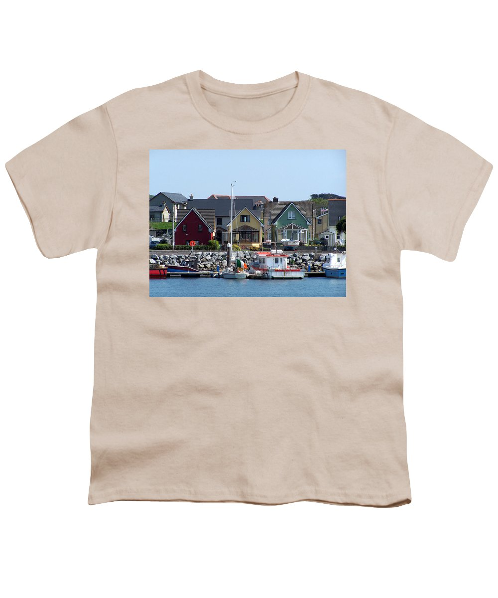 Irish Youth T-Shirt featuring the photograph Summer Cottages Dingle Ireland by Teresa Mucha