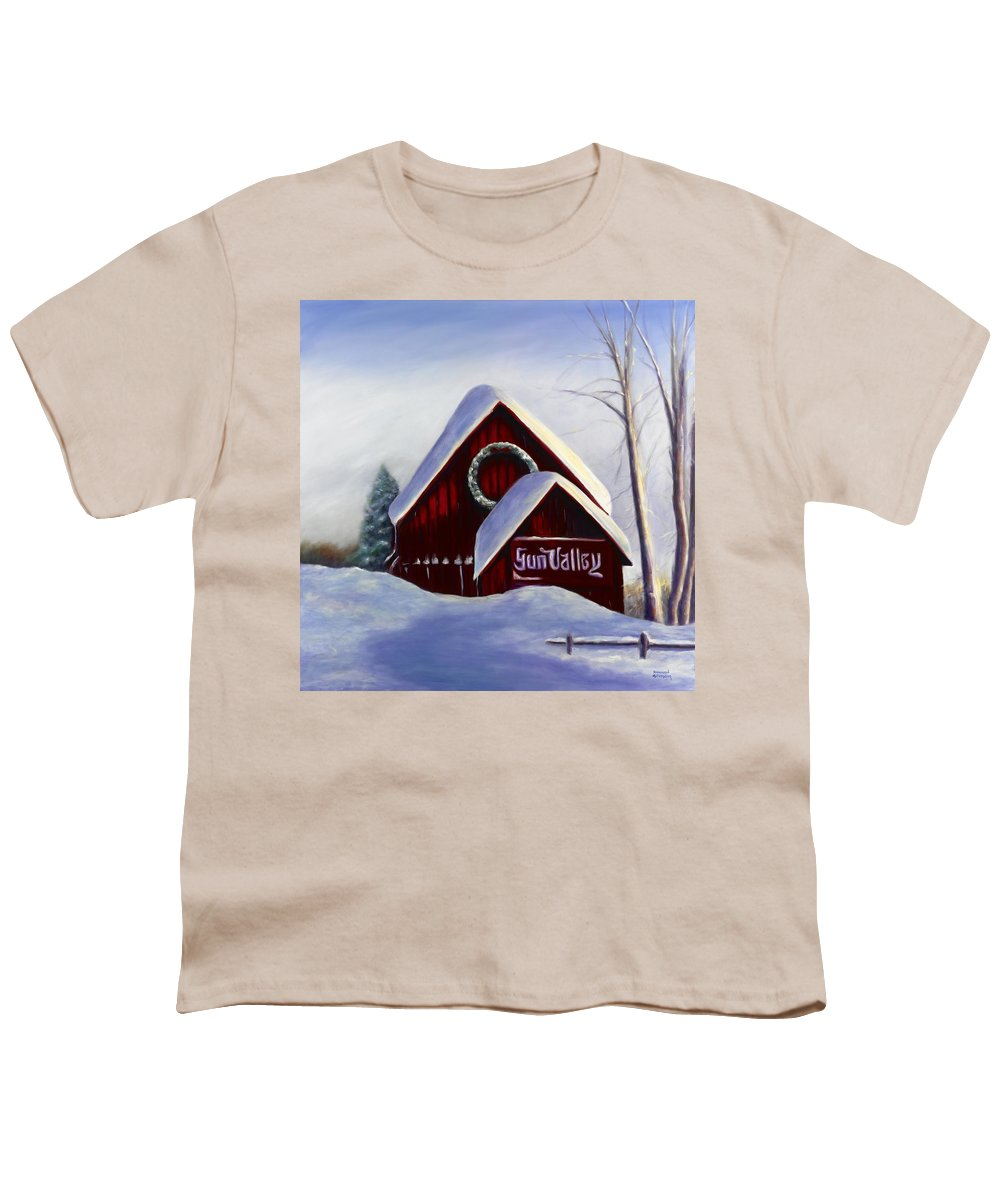 Landscape Youth T-Shirt featuring the painting Sun Valley 3 by Shannon Grissom