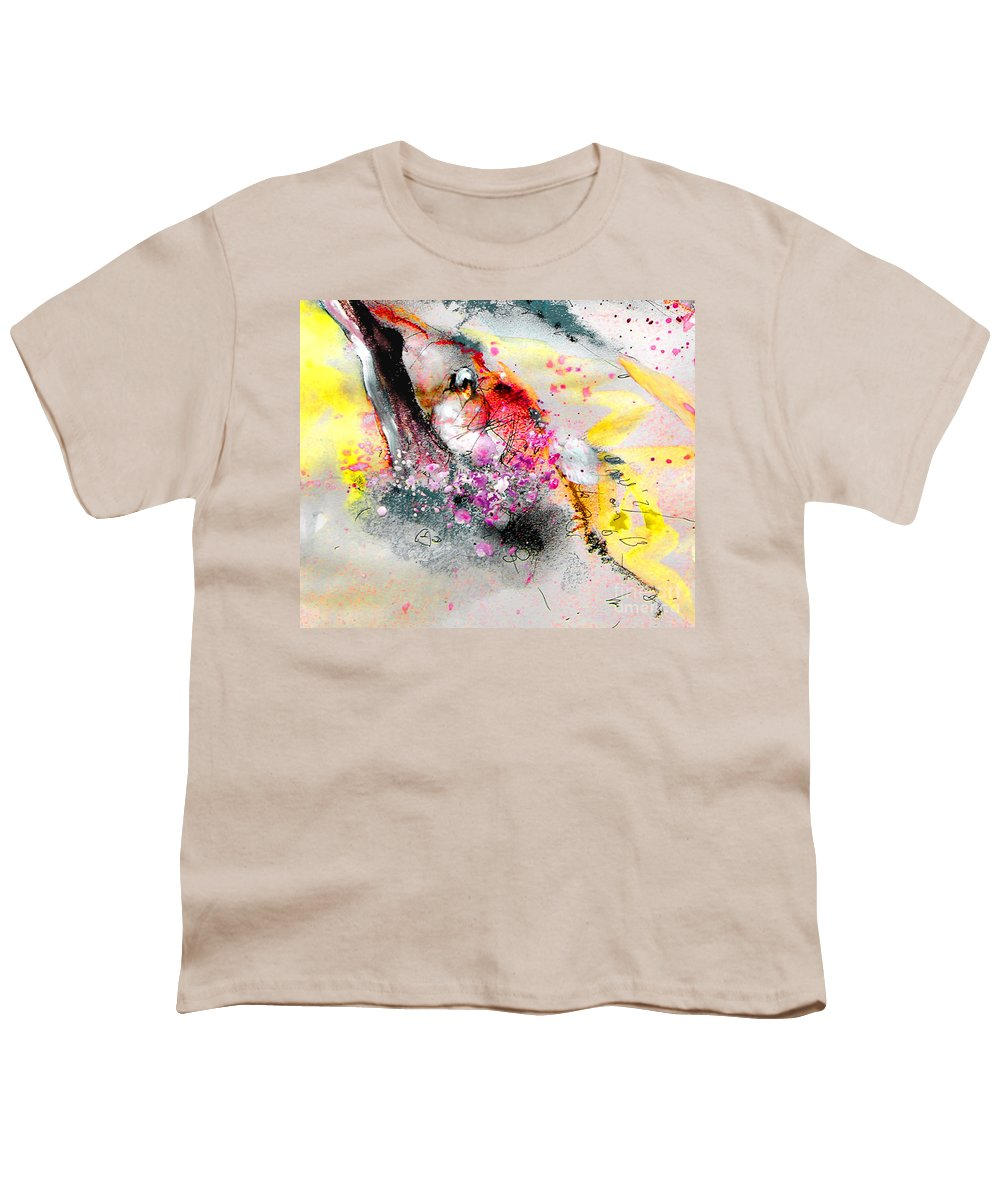 Pastel Painting Youth T-Shirt featuring the painting Sunday By The Tree by Miki De Goodaboom