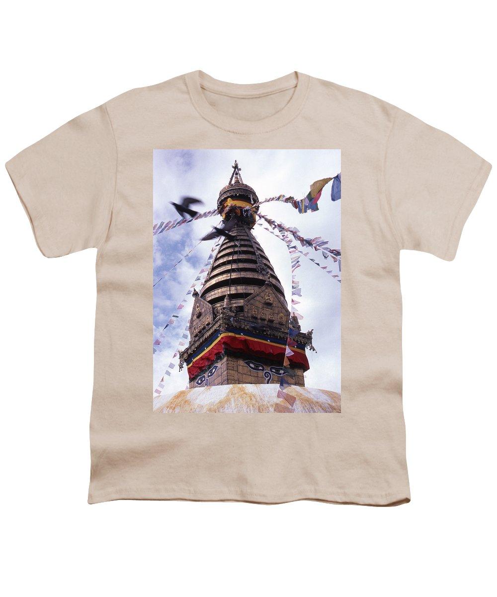 Swayambhunath Youth T-Shirt featuring the photograph Swayambhunath by Patrick Klauss