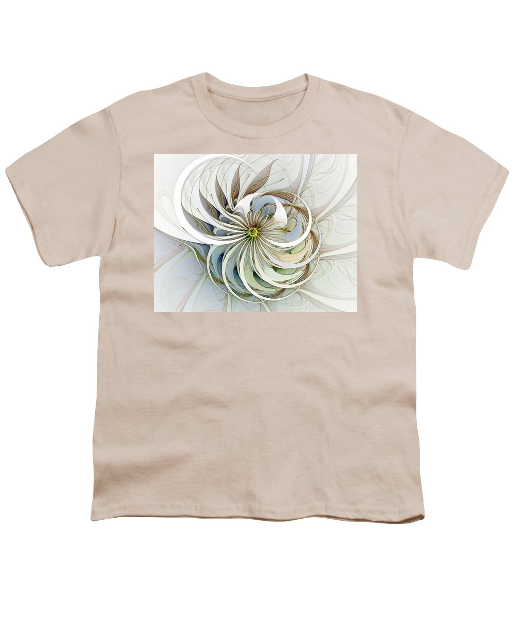 Digital Art Youth T-Shirt featuring the digital art Swirling Petals by Amanda Moore