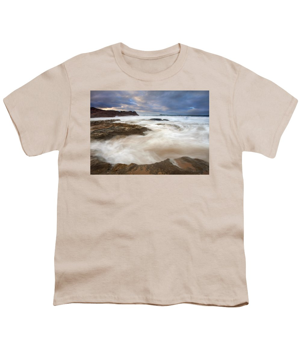 Bowl Youth T-Shirt featuring the photograph Tempestuous Sea by Mike Dawson