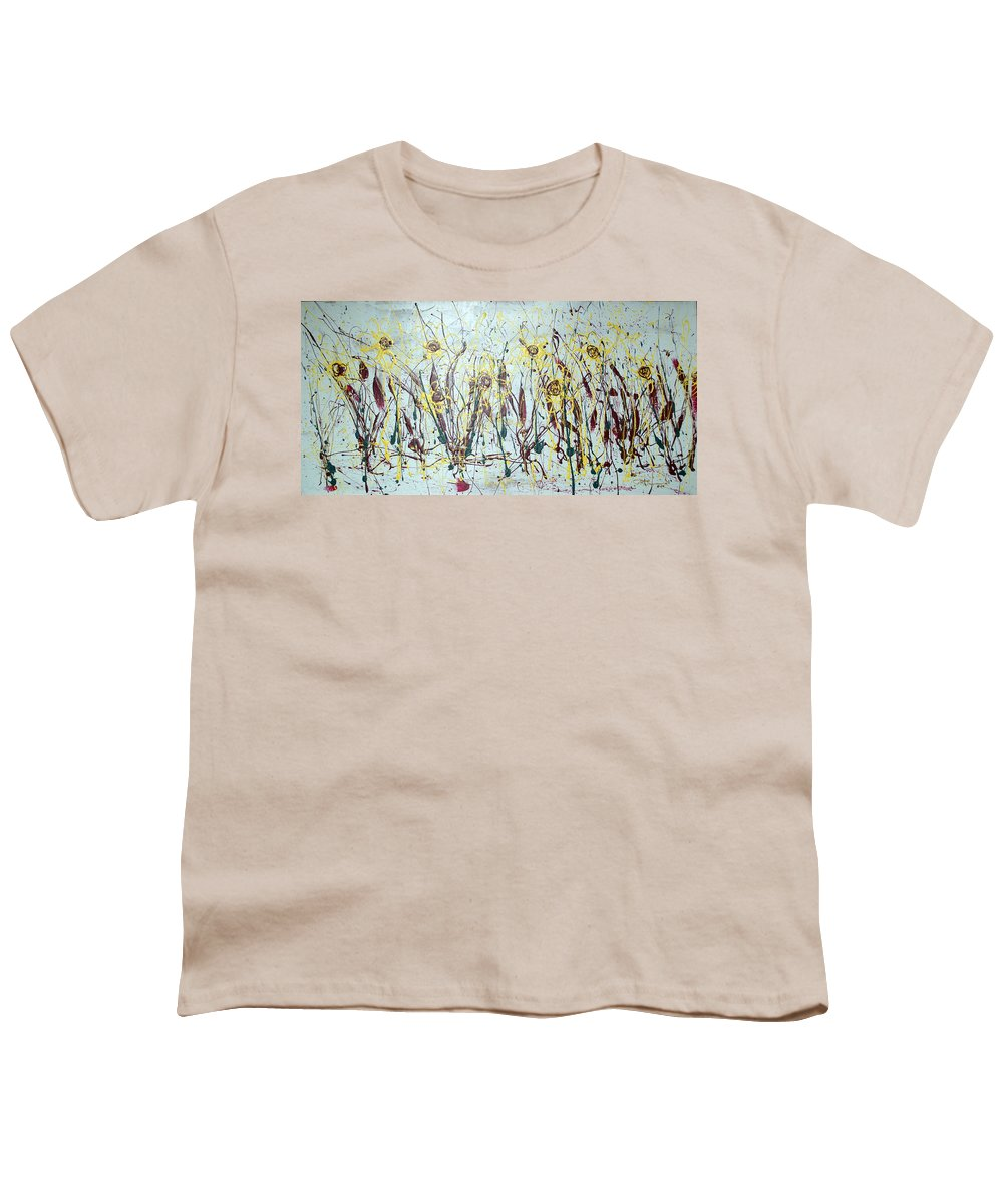 Flowers Youth T-Shirt featuring the painting Tending My Garden by J R Seymour