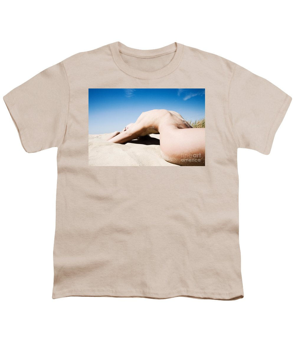 Sensual Youth T-Shirt featuring the photograph The Bridge by Olivier De Rycke