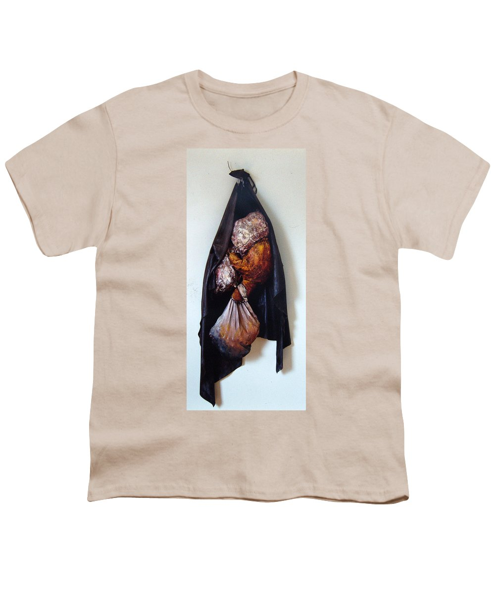 Acrylic Youth T-Shirt featuring the painting The Curtain by Nancy Mueller