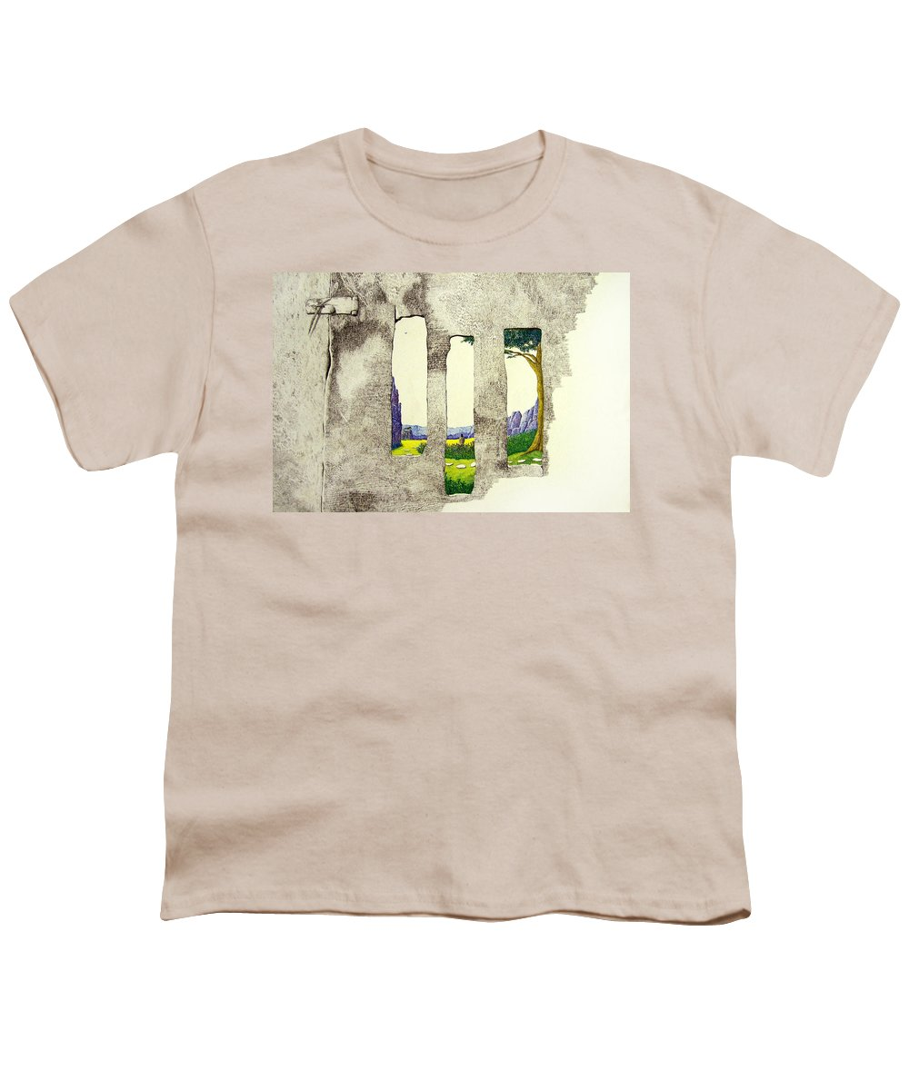 Imaginary Landscape. Youth T-Shirt featuring the painting The Garden by A Robert Malcom