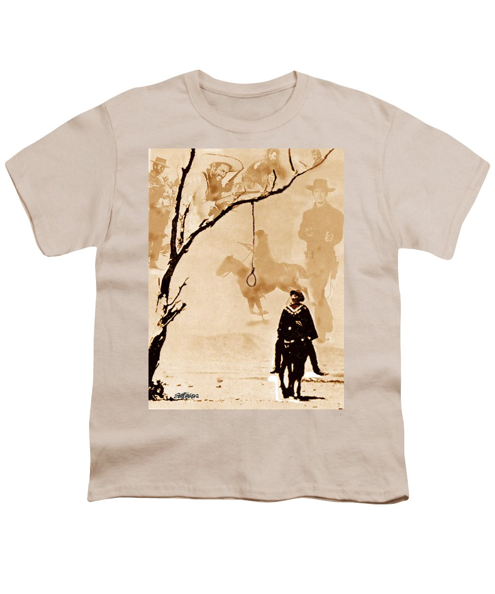 Clint Eastwood Youth T-Shirt featuring the digital art The Hangman's Tree by Seth Weaver