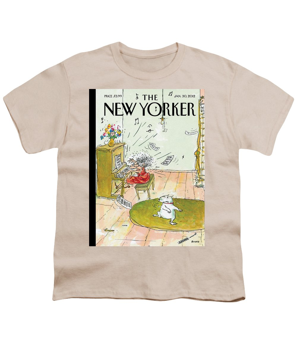 Woman Youth T-Shirt featuring the painting Winter Blues by George Booth