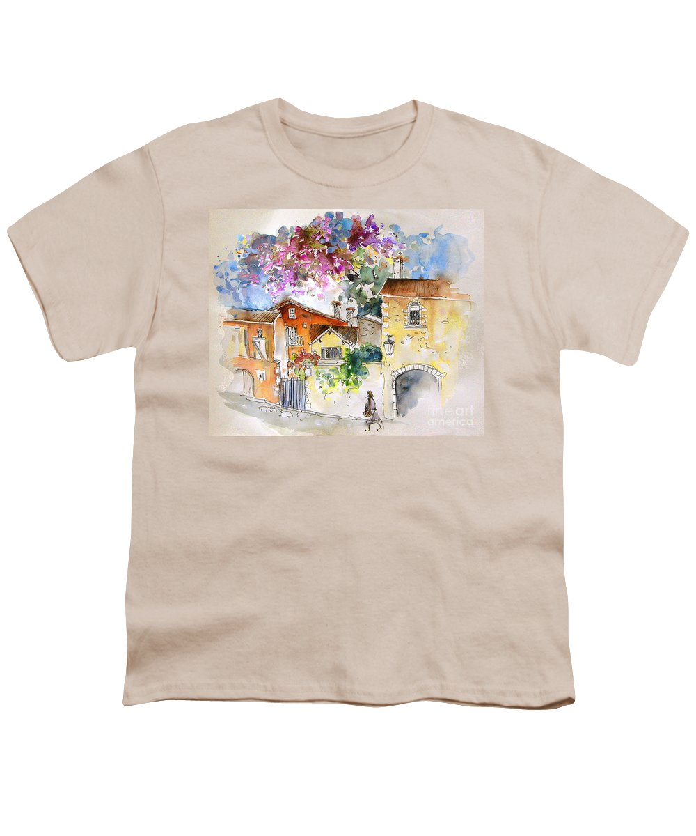 France Paintings Youth T-Shirt featuring the painting The Perigord In France by Miki De Goodaboom