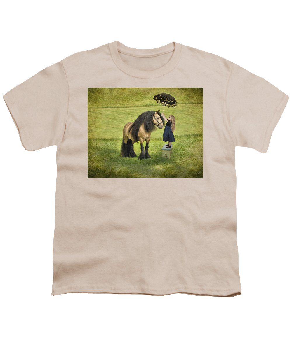 Children Youth T-Shirt featuring the photograph The Precious Companion by Fran J Scott