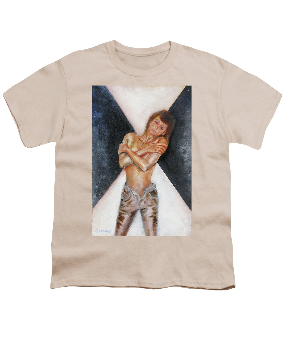 Females Youth T-Shirt featuring the painting The Way You Make Me Feel by Tom Conway