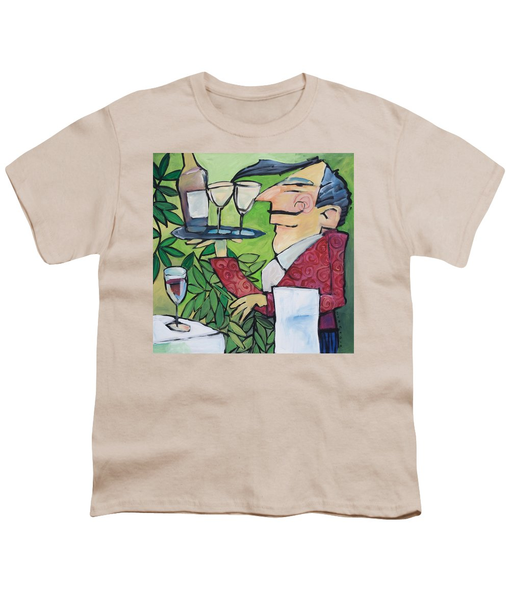 Wine Youth T-Shirt featuring the painting The Wine Steward by Tim Nyberg