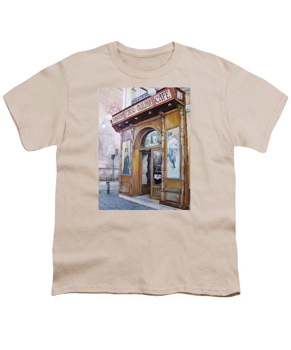 Tirso Youth T-Shirt featuring the painting Tirso De Molina Old Tavern by Tomas Castano