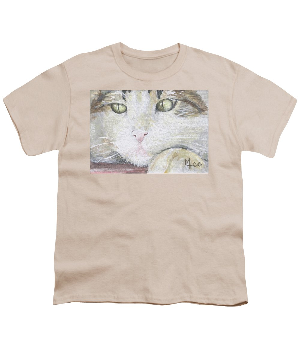 Charity Youth T-Shirt featuring the painting Tommy by Mary-Lee Sanders