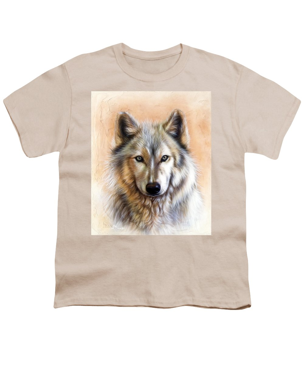 Wolves Youth T-Shirt featuring the painting Trace Two by Sandi Baker