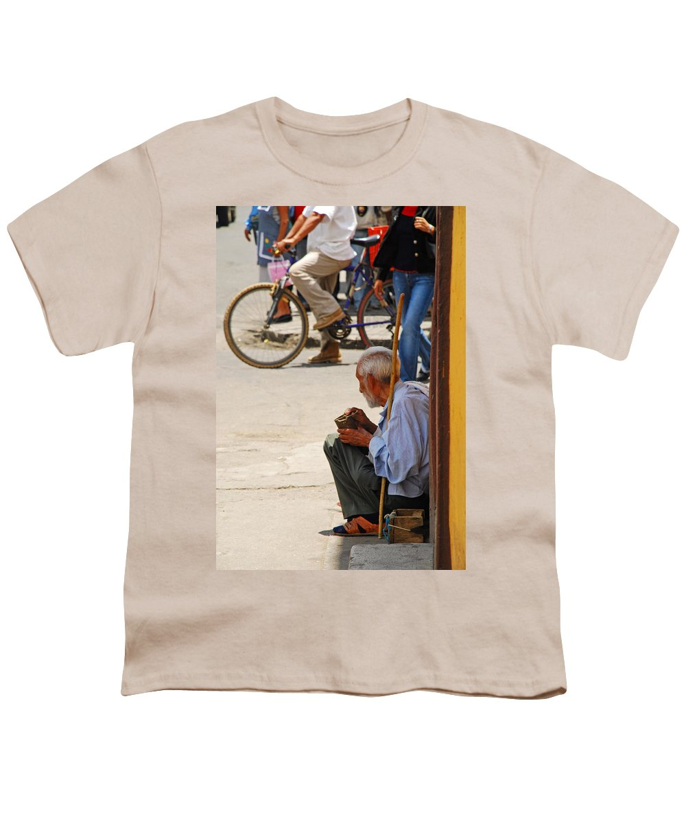 Beggar Youth T-Shirt featuring the photograph Un Peso Por Favor by Skip Hunt