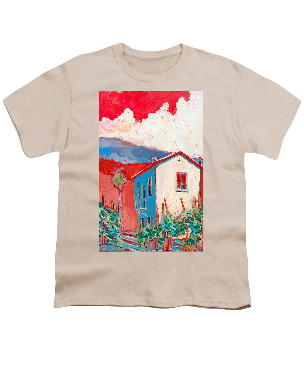Tuscany Youth T-Shirt featuring the painting Vecchio Casa by Kurt Hausmann