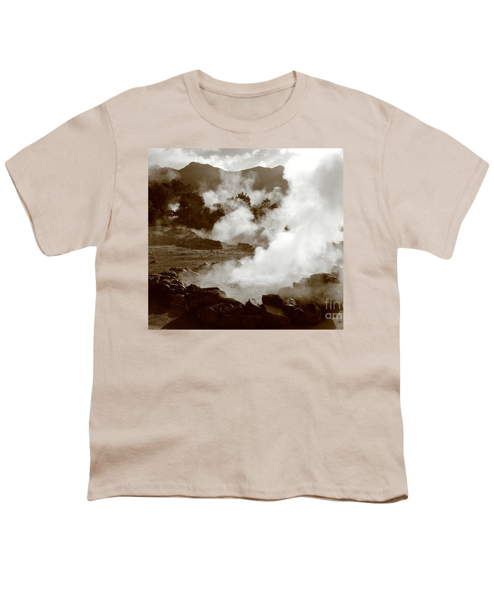 Azores Youth T-Shirt featuring the photograph Volcanic Steam by Gaspar Avila