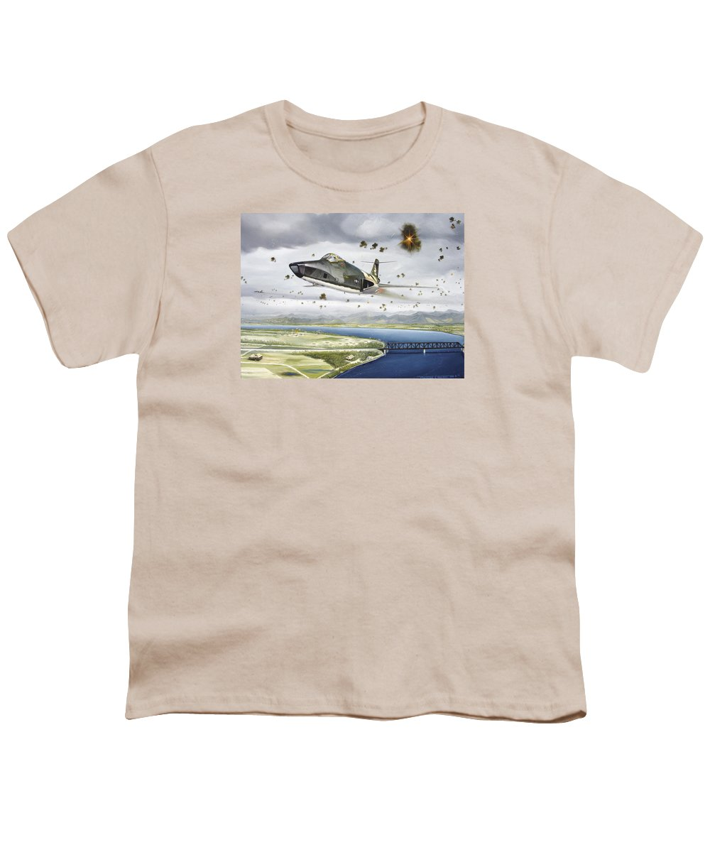 Military Youth T-Shirt featuring the painting Voodoo Vs The Dragon by Marc Stewart