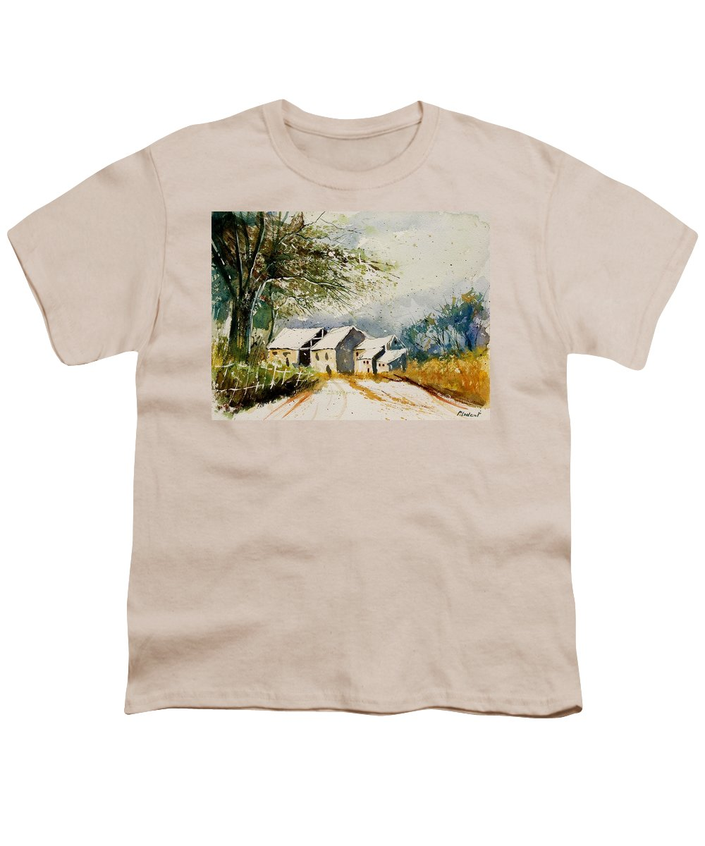 Landscape Youth T-Shirt featuring the painting Watercolor 010708 by Pol Ledent