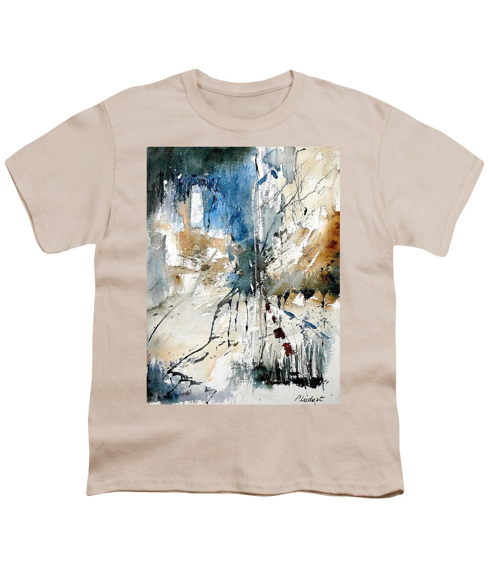 Abstract Youth T-Shirt featuring the painting Watercolor 251108 by Pol Ledent