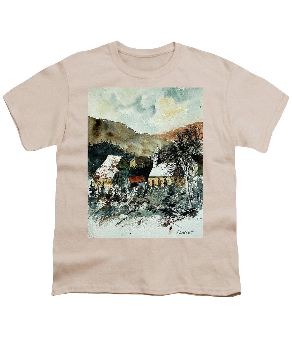 Winter Youth T-Shirt featuring the painting Watercolor 260107 by Pol Ledent