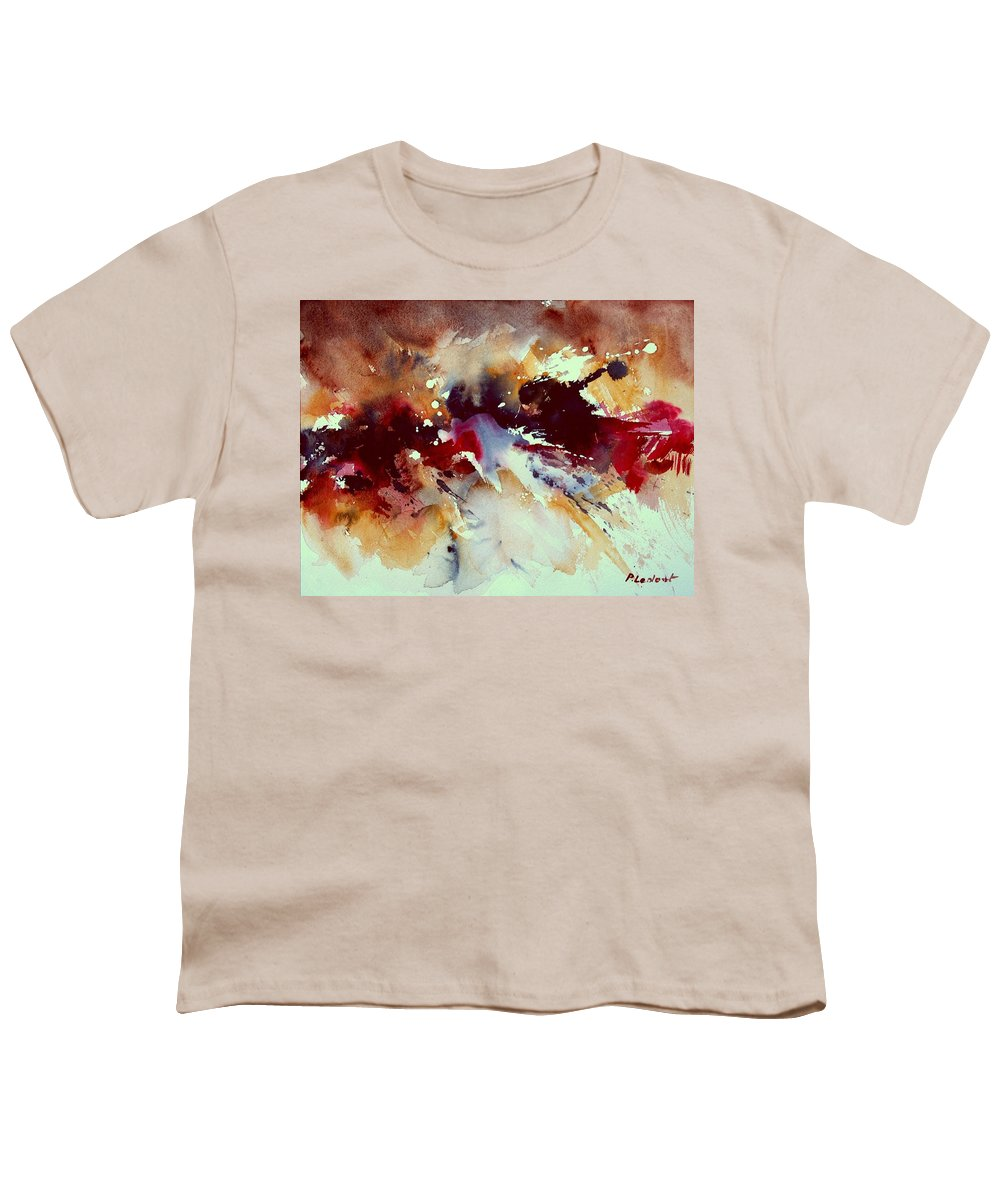 Abstract Youth T-Shirt featuring the painting Watercolor 301107 by Pol Ledent