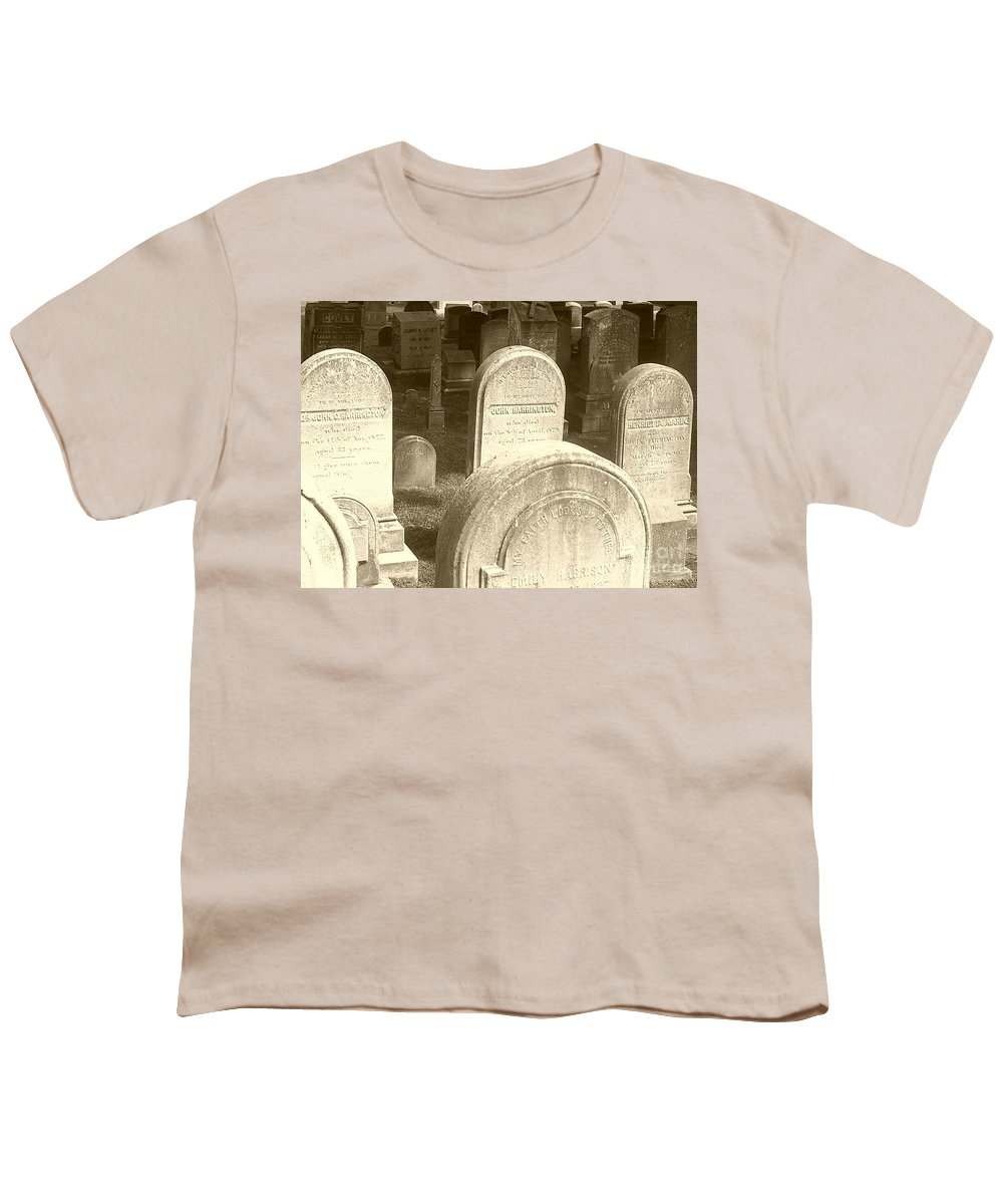 Cemetery Youth T-Shirt featuring the photograph Welcome by Debbi Granruth