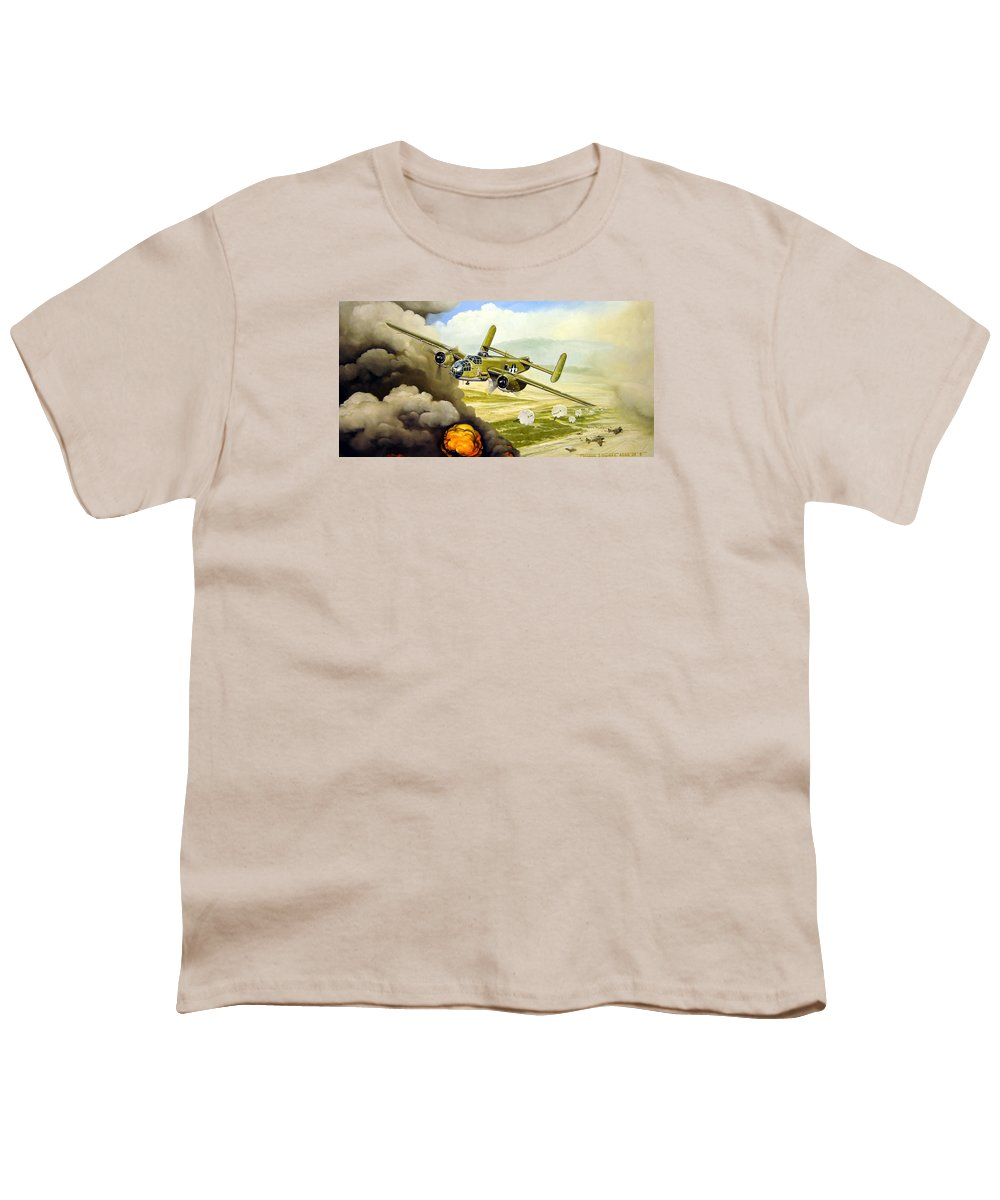 Aviation Youth T-Shirt featuring the painting Wild Cargo by Marc Stewart