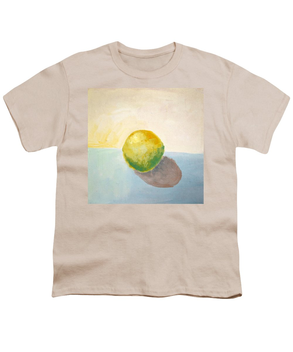 Lemon Youth T-Shirt featuring the painting Yellow Lemon Still Life by Michelle Calkins