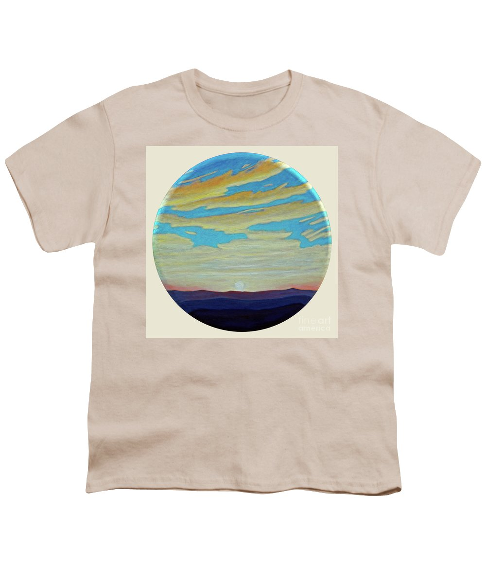 Landscape Youth T-Shirt featuring the painting Yesterday by Brian Commerford