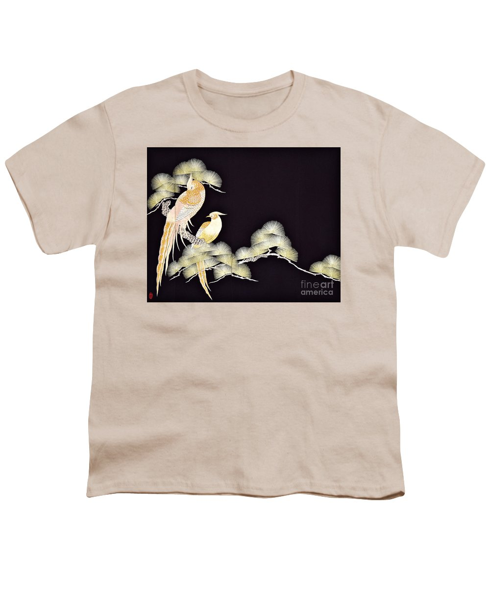 Youth T-Shirt featuring the tapestry - textile Spirit of Japan T56 by Miho Kanamori