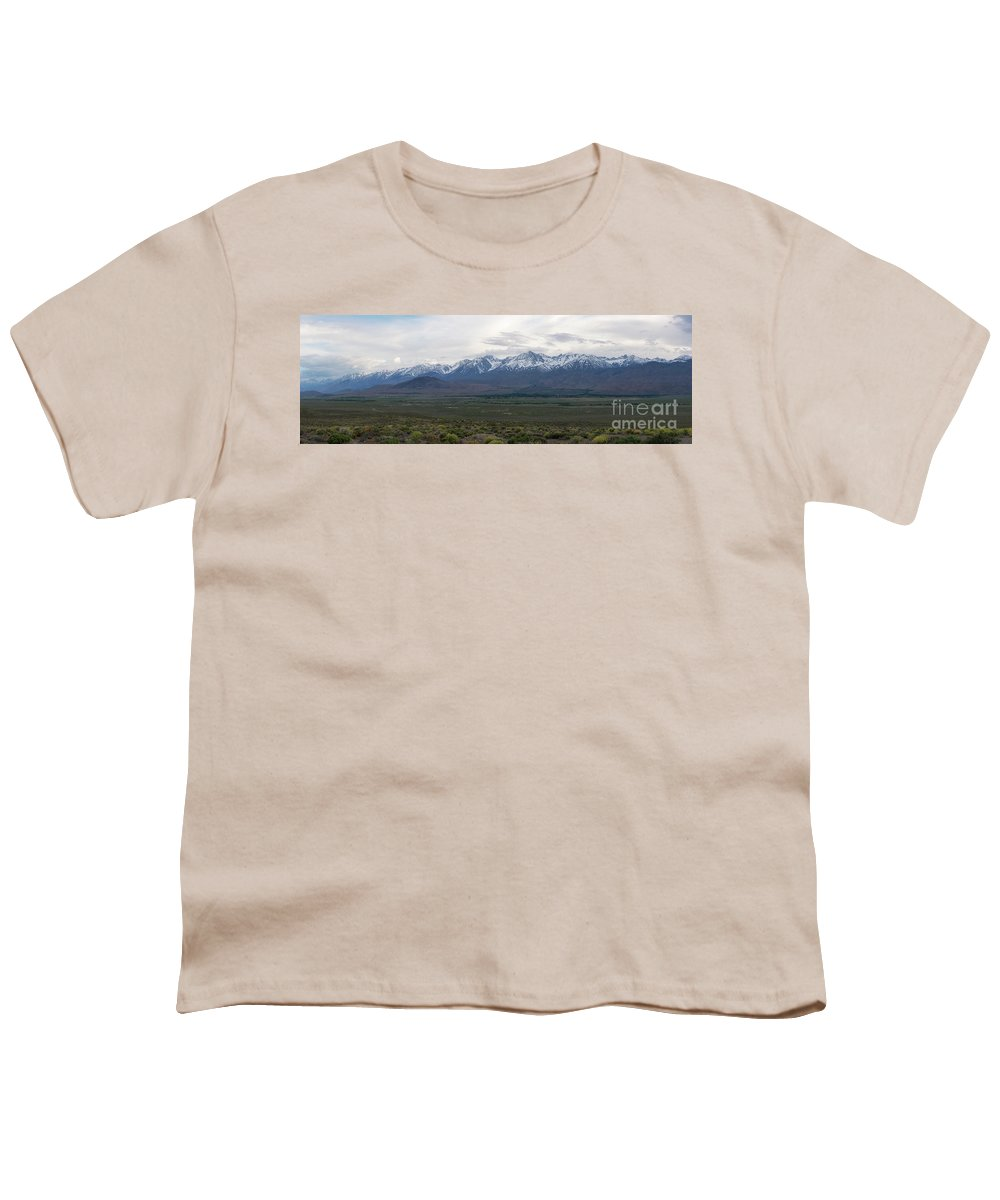 Owens Valley Youth T-Shirt featuring the photograph Big Pine California Overlook by Michael Ver Sprill